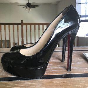 Christian Louboutin Shoes - CHRISTIAN LOUBOUTIN Black Patent Leather Bianca 39